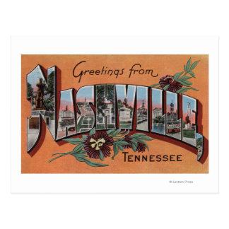 Cartão Postal Nashville, Tennessee - grandes cenas da letra