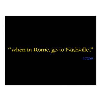Cartão Postal Nashville, TN quando em Roma
