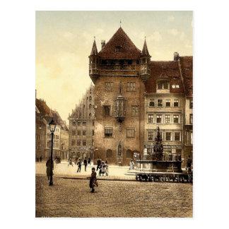 Cartão Postal Nassauerhaus, Nuremberg, Baviera, Alemanha