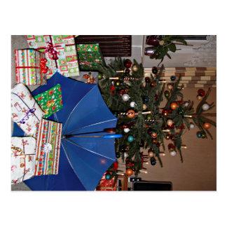 Cartão postal - natais com a viseira Azul