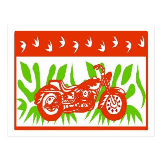 Cartão Postal Natal abstrato da motocicleta