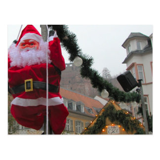 Cartão Postal Natal alemão, papai noel de Heidelberg