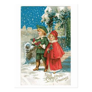 Cartão Postal Natal antiquado