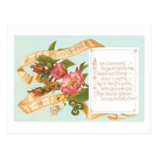Cartão Postal Natal antiquado, flor