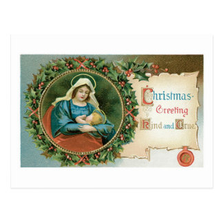 Cartão Postal Natal antiquado, Mary