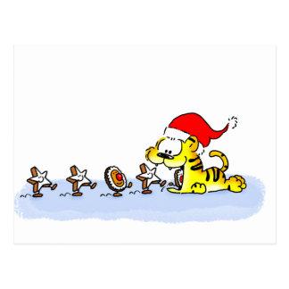 Cartão Postal Natal com Kuscheltiger