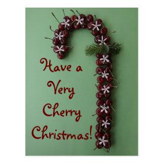 Cartão Postal Natal da cereja