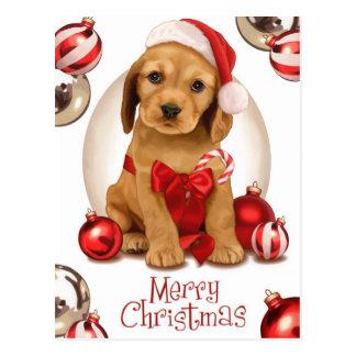 Cartão Postal Natal de cocker spaniel