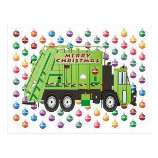 Cartão Postal Natal do caminhão de lixo