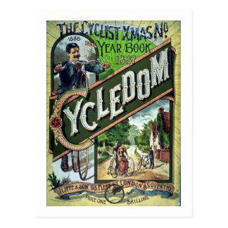 Cartão Postal Natal do catálogo do vintage 1886 de Cycledom