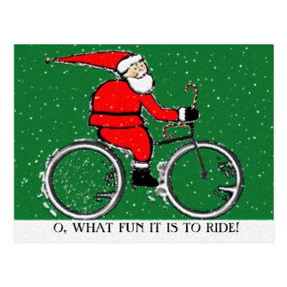 Cartão Postal Natal do ciclismo