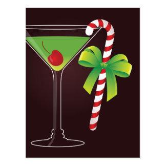 Cartão Postal Natal do cocktail do bastão de doces