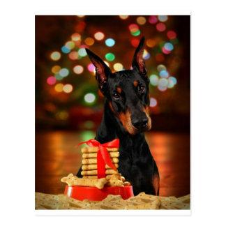 Cartão Postal Natal do Doberman