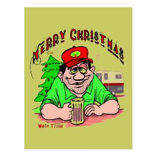 Cartão Postal Natal do lixo branco