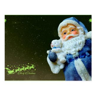 Cartão Postal Natal do urso de Papai Noel & de ursinho