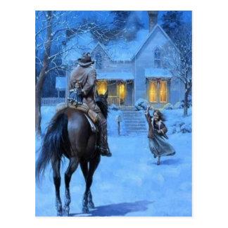 Cartão Postal Natal do vaqueiro do vintage