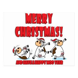 Cartão Postal Natal feliz Breakdancing
