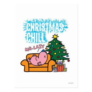 Cartão Postal Natal Frio do Sr. Preguiçoso