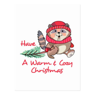 Cartão Postal Natal morno & acolhedor