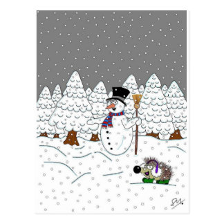 Cartão Postal Natal na madeira mágica da árvore