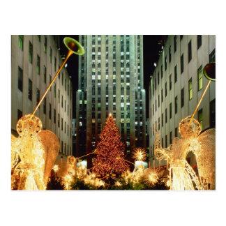 Cartão Postal Natal no centro de Rockefeller