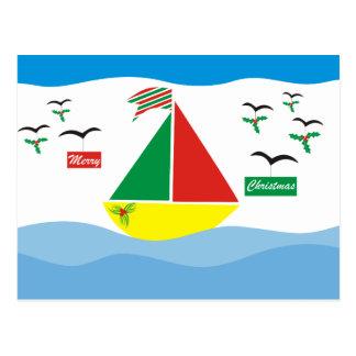 Cartão Postal Natal no mar