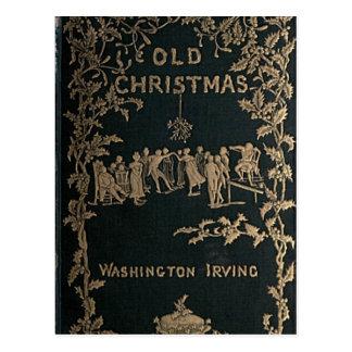 Cartão Postal Natal velho - Washington Irving