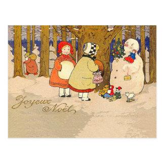 Cartão Postal Natal vintage de Joyeux Noel