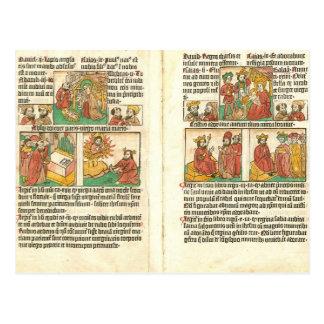 Cartão Postal Natividade de Biblia Paupernum