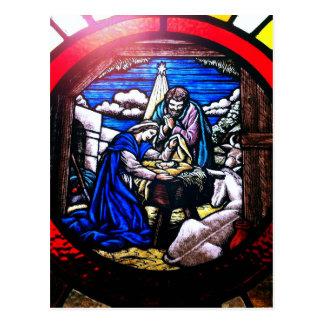Cartão Postal Natividade do vitral