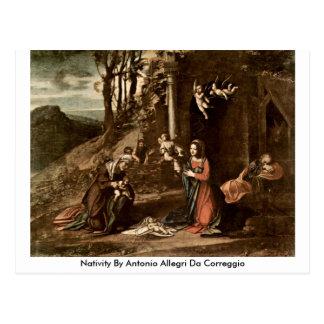 Cartão Postal Natividade por Antonio Allegri a Dinamarca