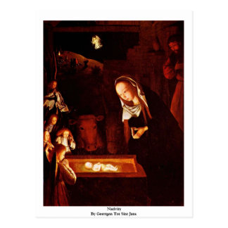 Cartão Postal Natividade por Geertgen tot Sint Jans