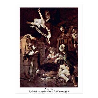 Cartão Postal Natividade por Michelangelo Merisi a Dinamarca