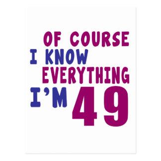 Cartão Postal Naturalmente eu sei que tudo eu sou 49