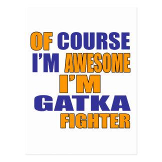 Cartão Postal Naturalmente eu sou lutador de Gatka