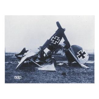 Cartão Postal Naufrágio da guerra mundial 1 de um plano alemão