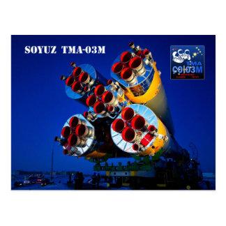 Cartão Postal Nave espacial de Soyuz TMA-03M, Kazakhstan