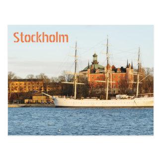 Cartão Postal Navegando em Éstocolmo, suecia