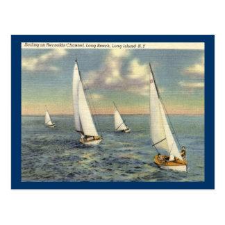 Cartão Postal Navigação, Long Beach, vintage de Long Island