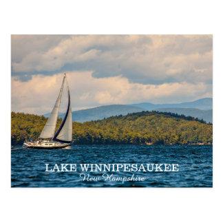 Cartão Postal Navigação no lago Winnipesaukee em New Hampshire