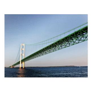 Cartão Postal Navigação sob a ponte de Mackinac