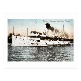 Cartão Postal Navio a vapor Macassa, Hamilton a Toronto