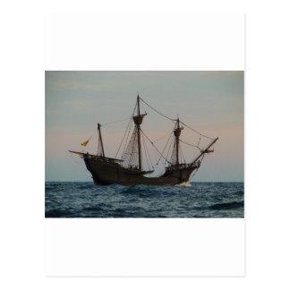 Cartão Postal Navio da era de Columbo
