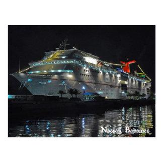 Cartão Postal Navio de cruzeiros em Nassau, Bahamas