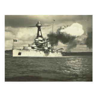 Cartão Postal Navio de guerra da classe de Bretagne, construída