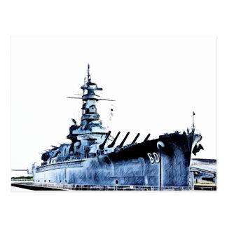 Cartão Postal Navio de guerra Memorial Park de USS Alabama