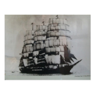 Cartão Postal Navio de navigação Peking no mar