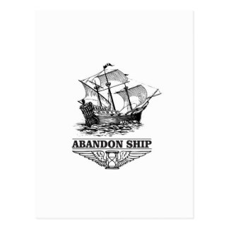 Cartão Postal navio do abandono yeah