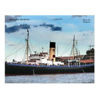 Cartão Postal Navio velho em Éstocolmo, Ola da foto…