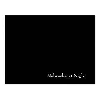 Cartão Postal Nebraska na noite